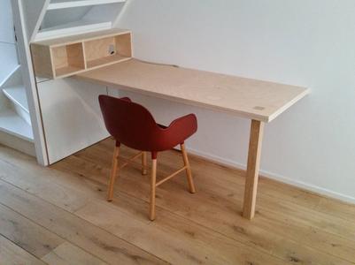 Keuken Onder Trap : Muur onder trap in hout bekleden bouwinfo